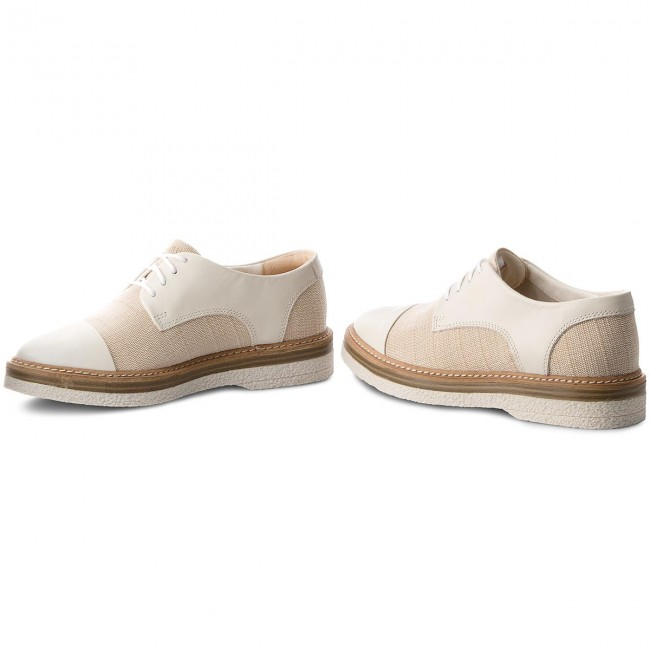 Zante Canvas White Zapatos Sienna 261326964 Clarks Oxford CxBWrdeo