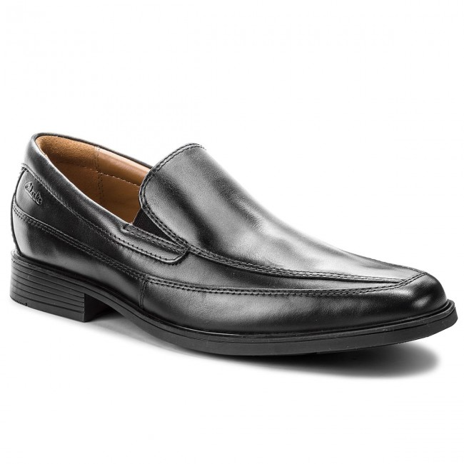 Zapatos Clarks - Tilden Free 261103127 Black Leather Formales