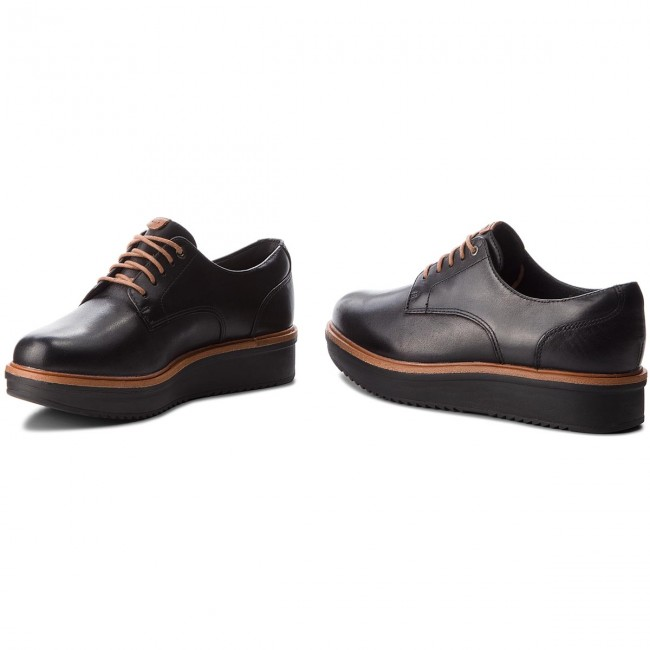 Black Rhea Oxford Leather Teadale 261284394 Zapatos Clarks uZiOPXk