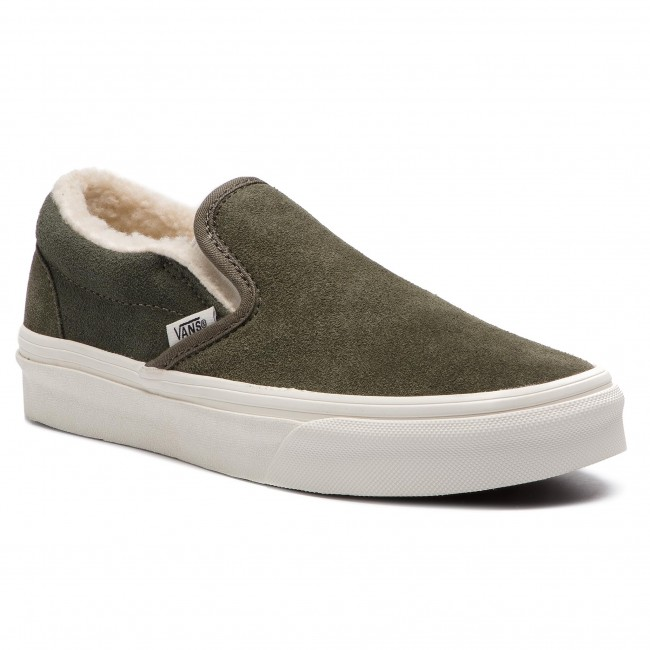 Zapatillas de tenis VANS Classic Slip On VN0A38F7ULZ1 (SuedeSherpa) Grape Leaf