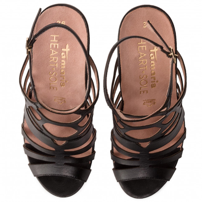 Y 003 Chanclas De 1 22 Sandalias Black Tamaris Elegantes Zapatos Mujer 28317 Leather hQtCxsrd
