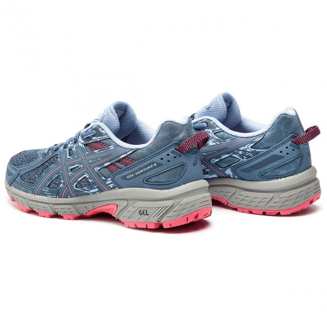 Zapatos ASICS Gel Venture 6 1012A504 Steel BluePink Cameo 400
