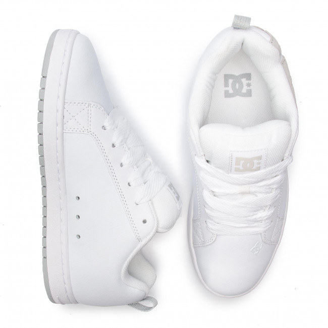 300529 White Court De Graffik Dc greyxwssZapatos grey Sneakers Hombre WDIH29EY