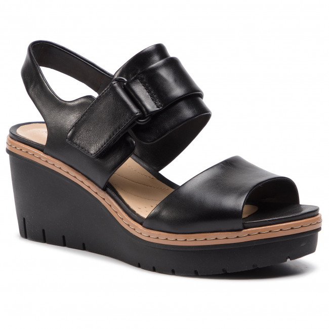 Mujer Chanclas Black Plataforma Leather Zapatos Clarks Stellar Y De Palm En 261402284 Sandalias If67vmyYgb