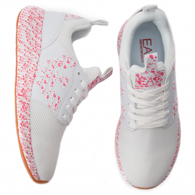 A041 Mujer Sneakers Zapatos Emporio Xk052 White De Ea7 X8x023 Armani red 2ID9YWEH