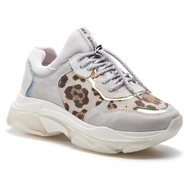 Sneakers grey Bronx L leopard De Mujer Zapatos Bx 3004 ch 66167 1525 white gy6Y7bf
