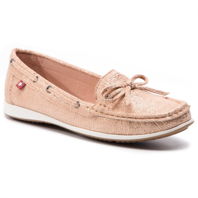 Mocasines Big Star - Dd274002 Beige Naúticos Zapatos