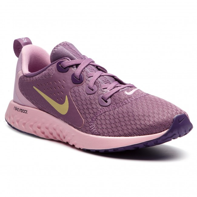 Zapatos NIKE Legend React (GS) AH9437 500 Violet DustMtlc Gold Star