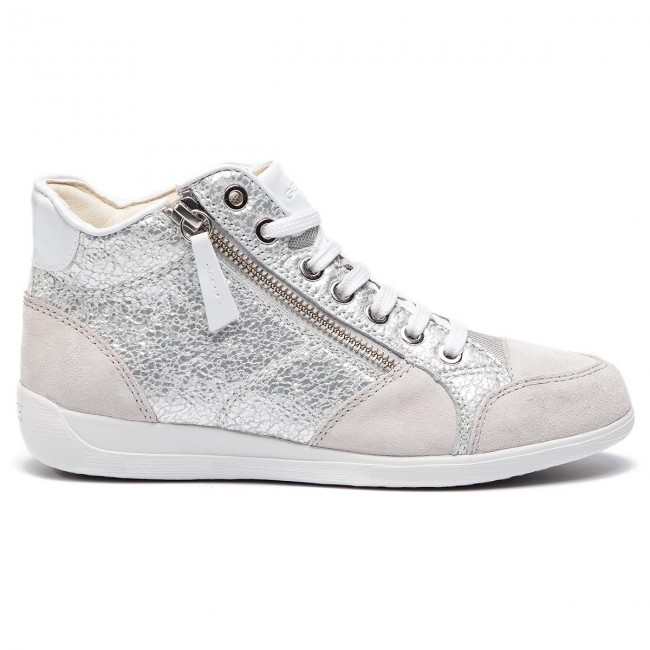D6468c D Geox Sneakers off Zapatos Mujer Wht Myria C De 0ky22 Silver C0628 j354RLA