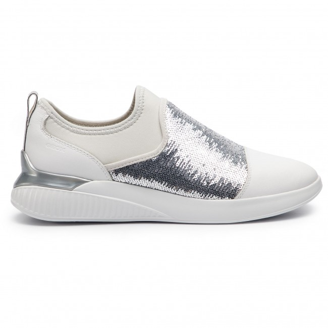 De C0007 085at Zapatos D848sa Geox Sneakers silver White Theragon D A Mujer dxreCoB