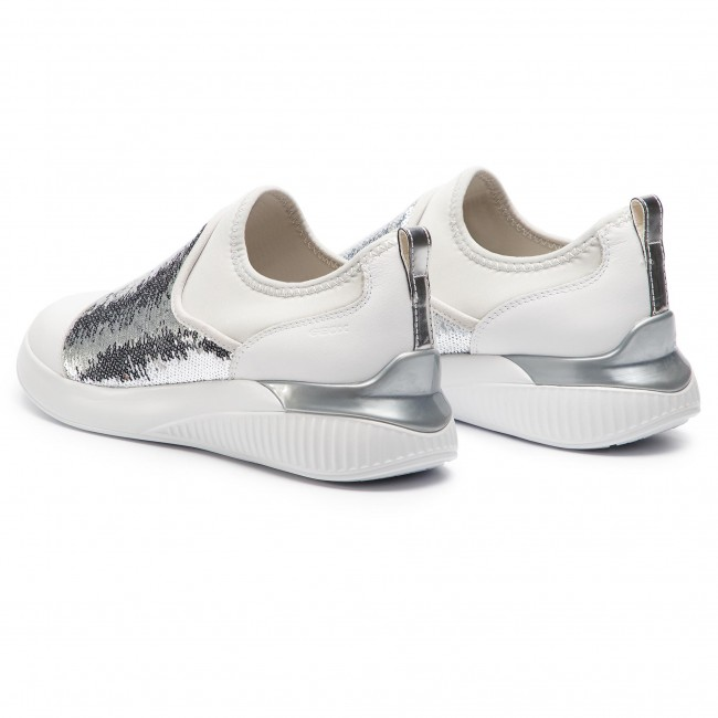 Sneakers Mujer D Theragon 085at silver D848sa Zapatos Geox White C0007 De A WH2YeEDI9b
