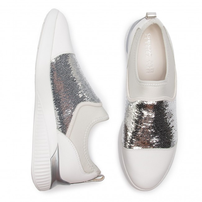 A De D White Zapatos C0007 Theragon D848sa 085at Sneakers Geox silver Mujer mN8wn0yOvP