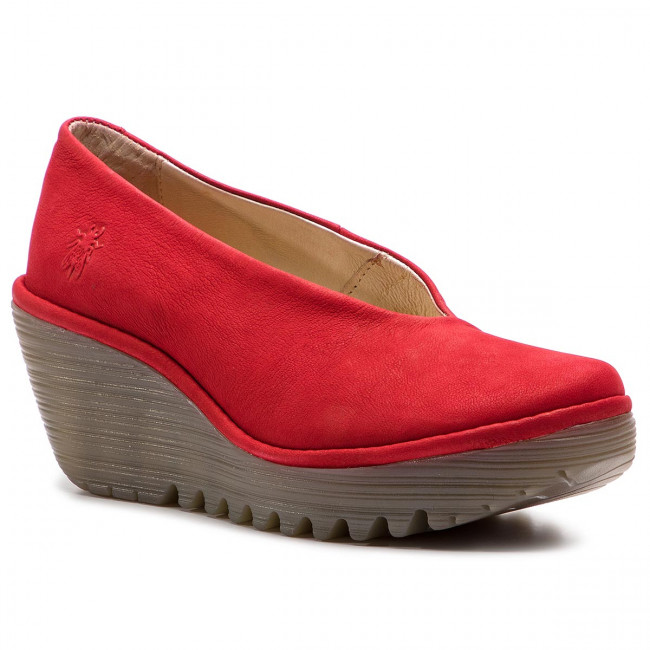 Zapatos Fly London - Yaz P500025230 Lipstick Red En Plataforma