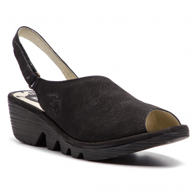 Sandalias Fly London - Palpfly P500814002 Black Zapatos En Plataforma Chanclas Y