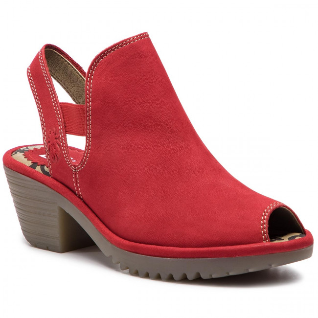 Sandalias Fly London - Warifly P500952002 Lipstick Red Para Diario Chanclas Y