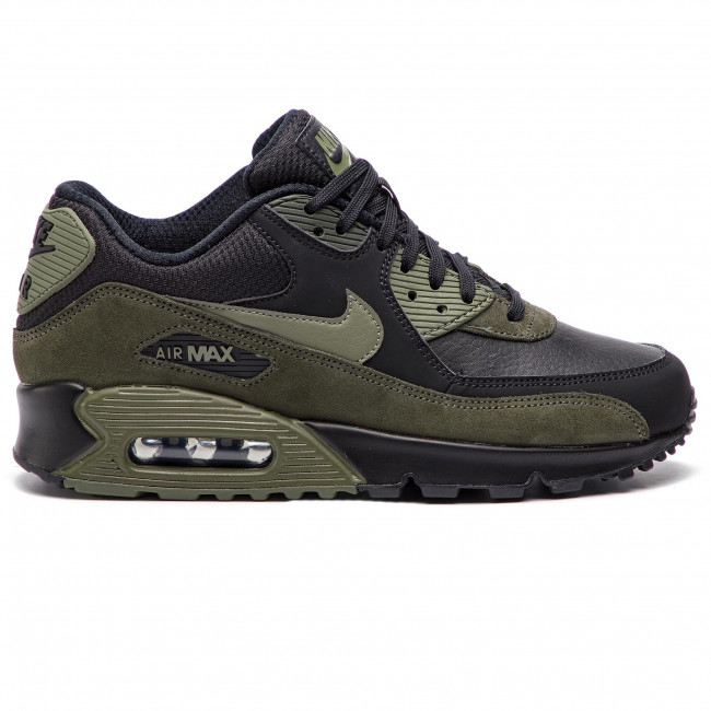 Zapatos NIKE Air Max 90 Leather 302519 014 BlackMedium OliveSequoia