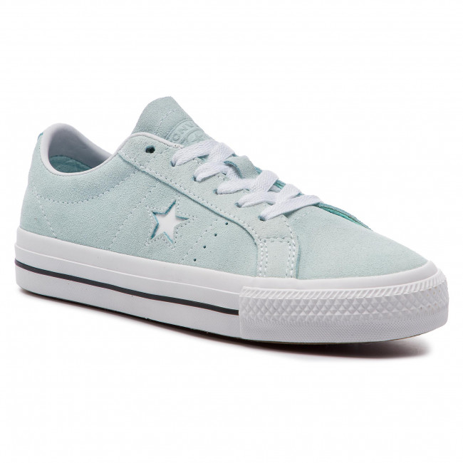 Zapatillas De Tenis Converse - One Star Pro Ox Te 163252c Teal Tint/black/wh Zapatos