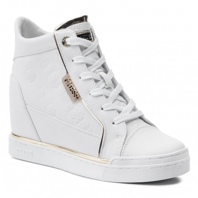 Ele12 Fabia Fl7fab Zapatos Guess De Sneakers White Mujer g7IYfbyv6