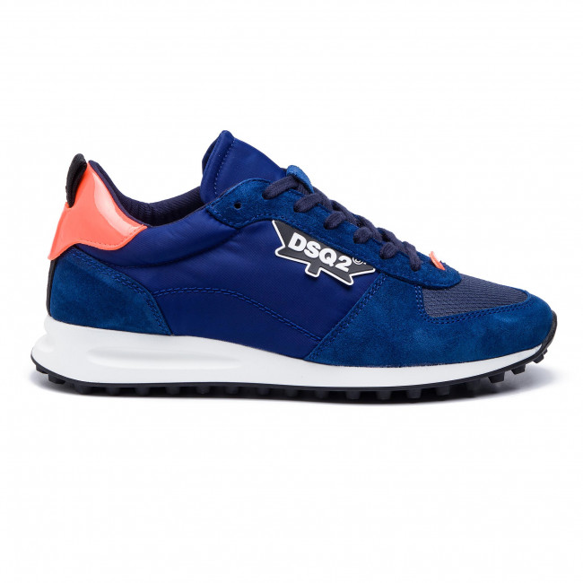 Snm0110 16801758 Dsquared2 Hombre M640 Zapatos New Runner Blu Hiking De arancio Sneakers ywmPOvN8n0