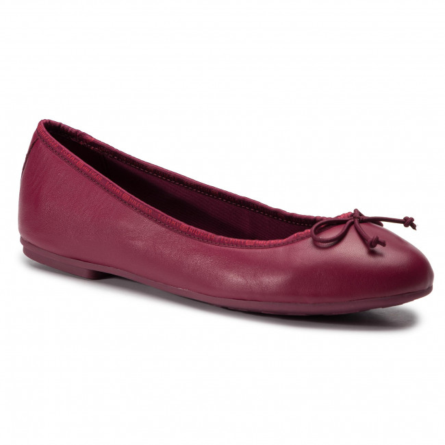 Bailarinas TOMMY HILFIGER Leather Ballerina Tommy Branding FW0FW04439 Beet Red 522