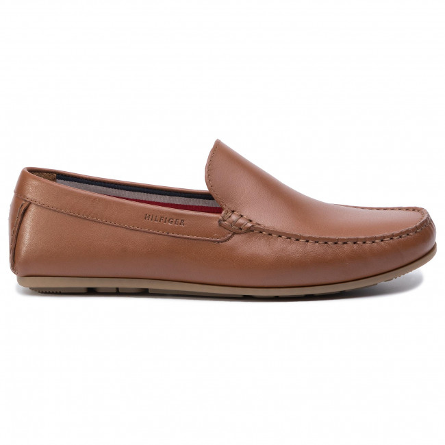 Mocasines TOMMY HILFIGER - Smooth Leather Driver FM0FM02249 Cognac 606 - Naúticos