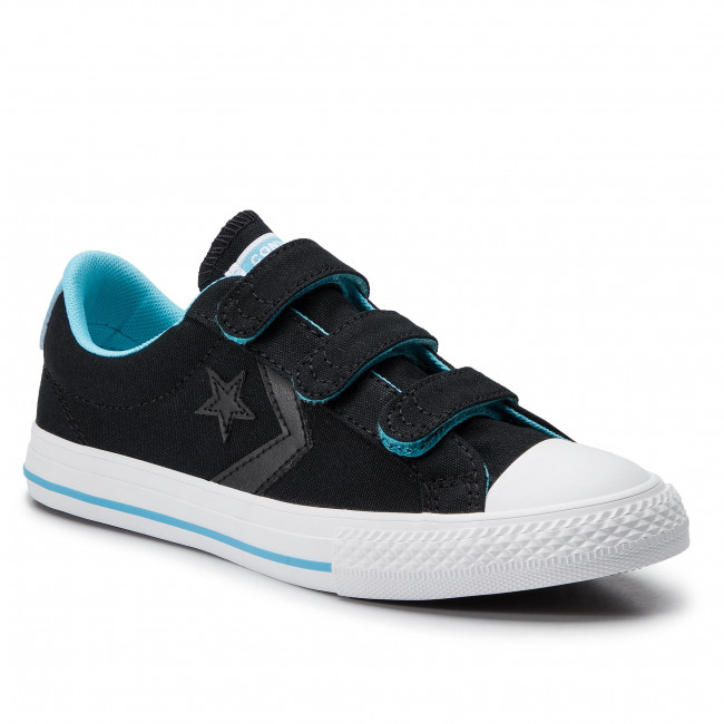 Zapatillas Converse - Star Player Ox 664184c Black/gnarly Blue/white Tenis Zapatos