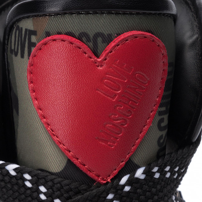 Ny Cam Moschino Love Zapatos milit Sneakers nero Ja15286g18iu285a Mujer De 4L35ARj