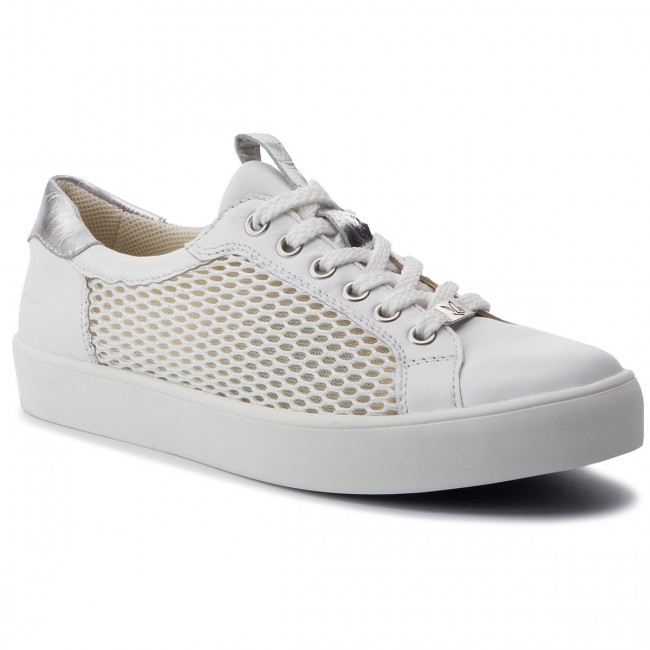 9 De mes Caprice Zapatos 22 silv 193 23652 White Sneakers Mujer A5jLcR34q