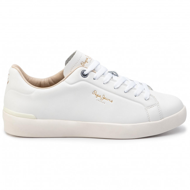 Sneakers PEPE JEANS - Roland Lth PMS30523 White 800 - Sneakers - Zapatos - de hombre