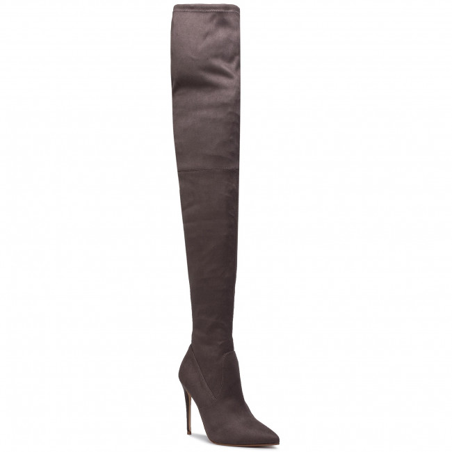Botas Mosqueteras Steve Madden - Dominique Boot Sm11000128-04001-074 Dark Grey Y Otros