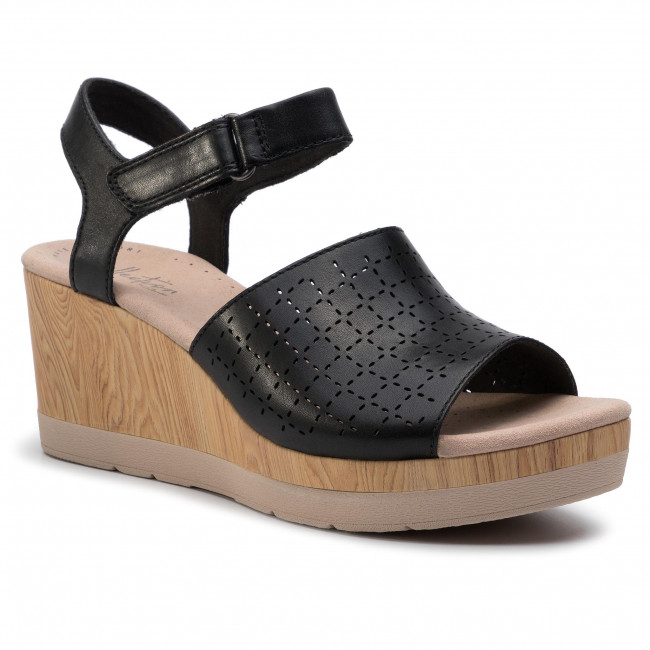 Plataforma Y Cammy Clarks Zapatos De Sandalias Chanclas En 261399214 Black Leather Mujer Glory vmNn0w8
