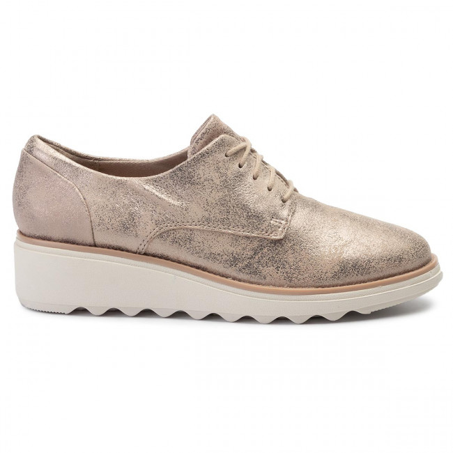 Zapatos Sharon Crystal Pewter De Mujer Clarks 261400714 Oxford PkuTZiOX