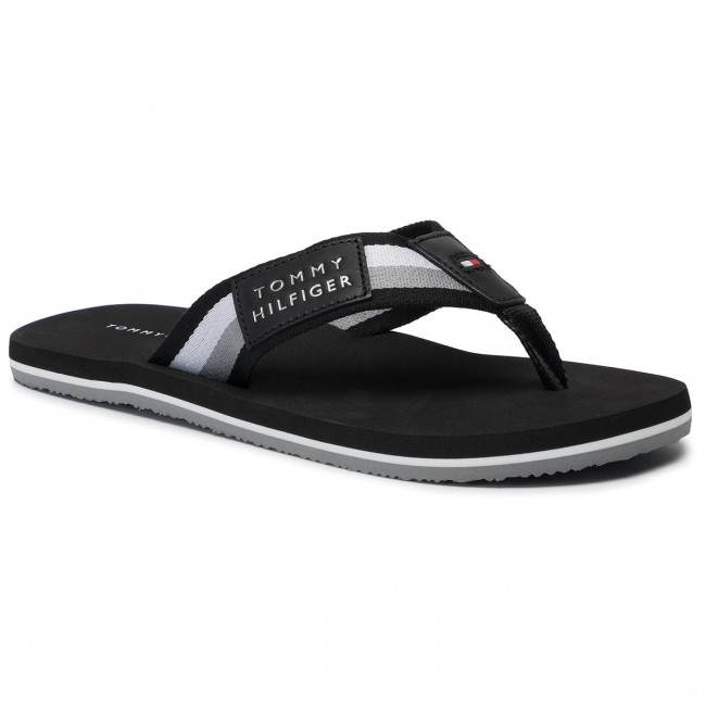 Chanclas Tommy Hilfiger - Corporate Badge Beach Sandal Fm0fm02366 Black 990 Y Sandalias De Hombre | Zapatos.es