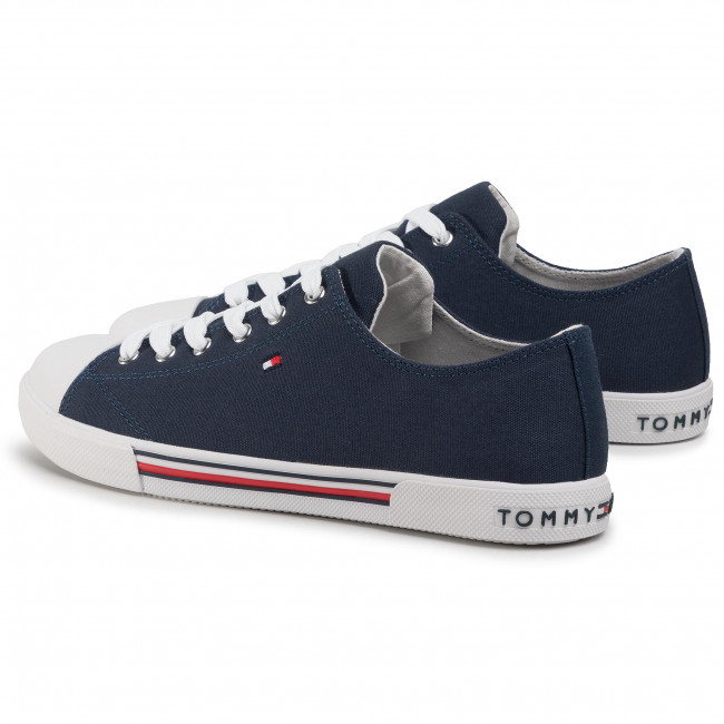 Zapatillas TOMMY HILFIGER - Low Cut Lace-Up Sneaker T3X4-30692-0890 D Blue 800 - Zapatillas tenis - Zapatos - Zapatos de mujer