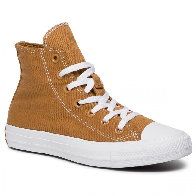 Zapatillas Converse - Cats Hi 165093c Wheat/turbo Green/white Tenis Zapatos