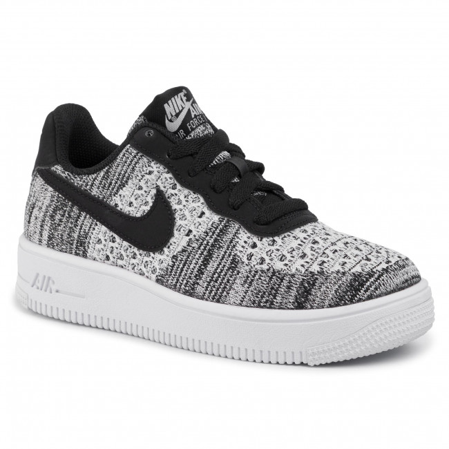 Zapatos NIKE Air Force 1 Flyknit 2.0 (GS) BV0063 001 BlackPure PlatinumWhite