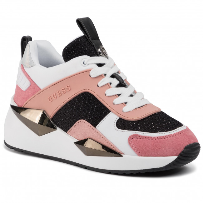Sneakers Guess - Typical4 Fl5tp4 Fab12 White/fuchsia Zapatos