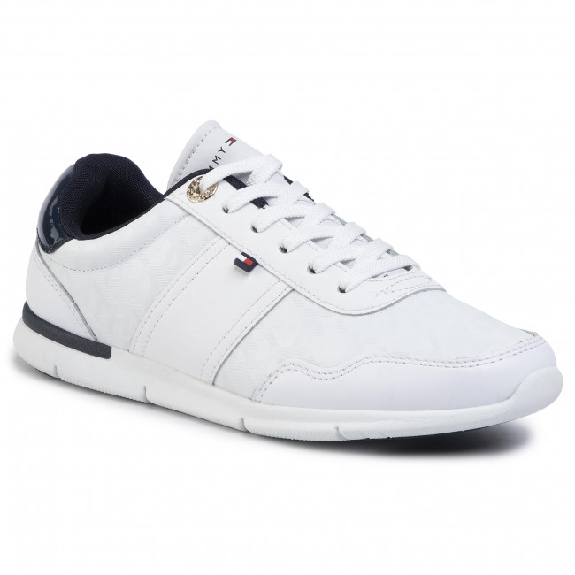 Sneakers Tommy Hilfiger - Jacquard Light Sneaker Fw0fw04605 White Ybs Zapatos