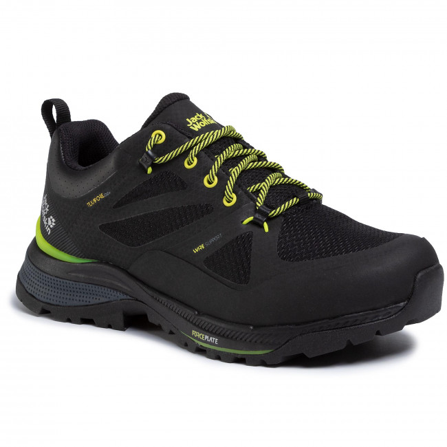 Botas De Montaña Jack Wolfskin - Force Striker Texapore Low M 4038841 Black/lime