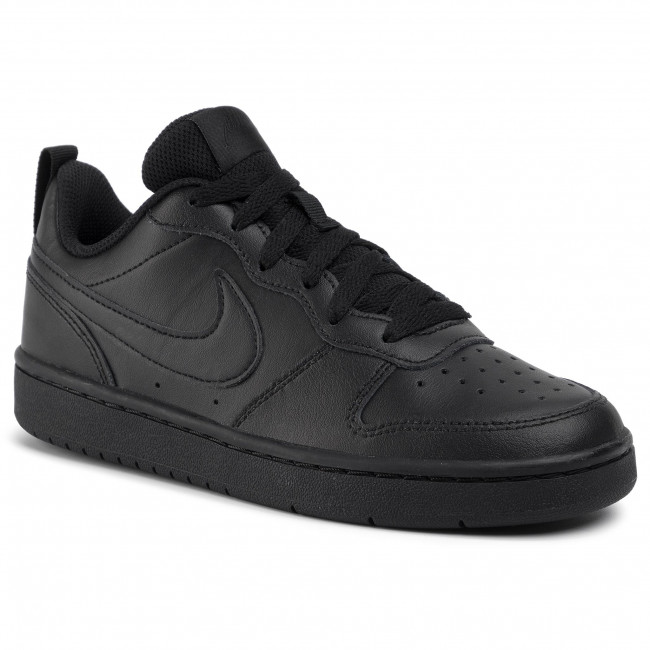 Zapatos NIKE - Court Borough Low 2 (GS) BQ5448 001 Black/Black/Black