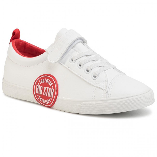 Sneakers Big Star - Ff274478 White/red Zapatos