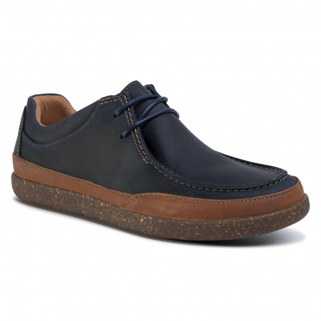 Zapatos Clarks - Un Lisbon Walk 261496917 Navy Leather Para Diario