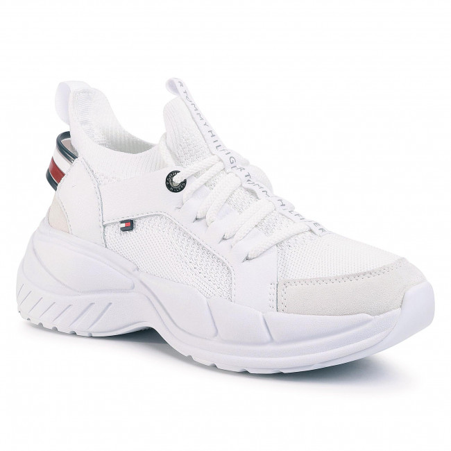 Sneakers Tommy Hilfiger - New Chunky Sneaker Fw0fw04826 White Ybs Zapatos