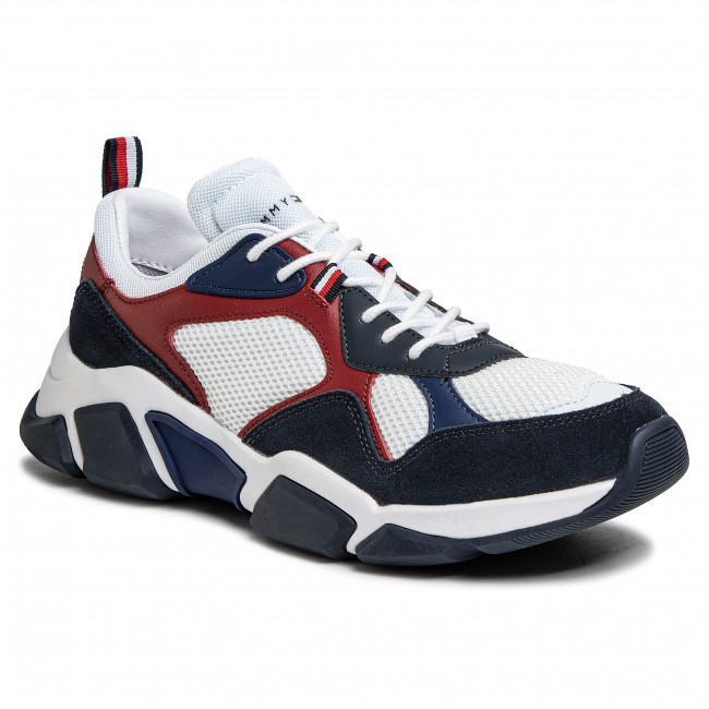 Sneakers Tommy Hilfiger - Chunky Material Mix Sneaker Fm0fm02660 White Ybs