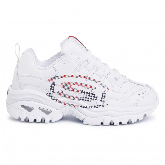Sneakers Skechers - Sky Vision 149052/wnvr White/navy/red Zapatos De Mujer