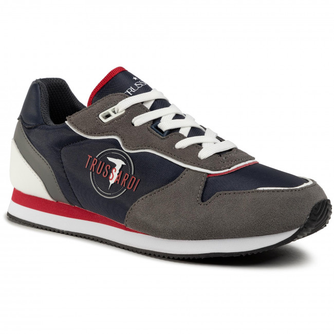 Sneakers TRUSSARDI JEANS - 77A00225 Blue/Grey/Red