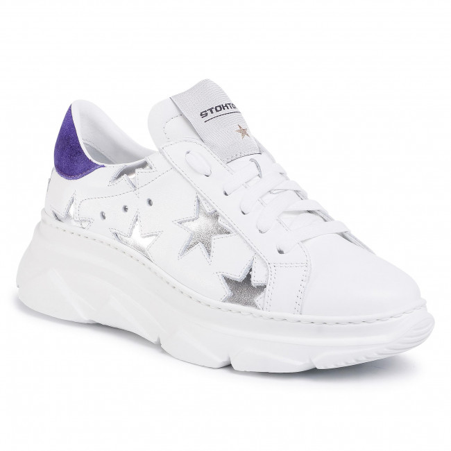 Sneakers Stokton - 352-d-ss20-up Vitello Bianco/kansas Viola Zapatos