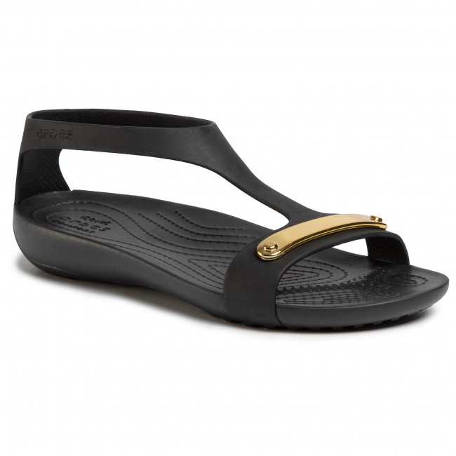 Sandalias CROCS Serena Metallic Bar Sdl W 206421 GoldBlack