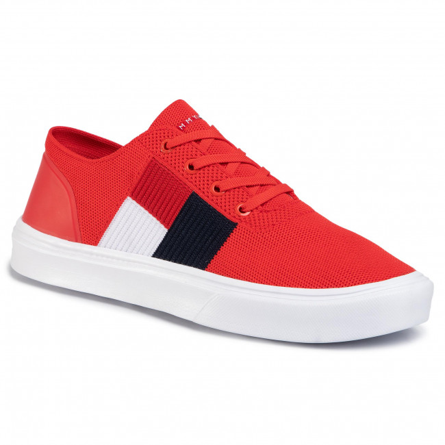 Sneakers Tommy Hilfiger - Lightweight Knit Flag Sneaker Fm0fm02545 Fiery Red Xa7