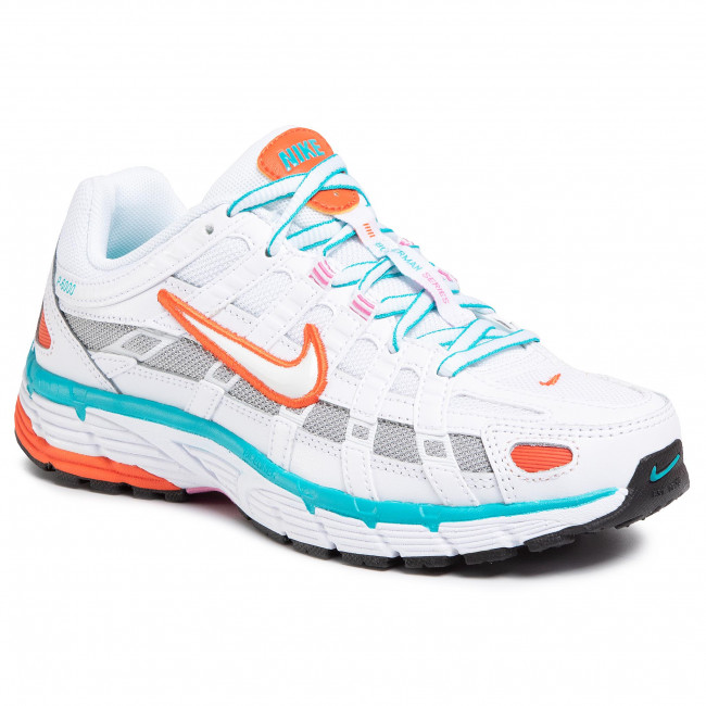 Zapatos Nike - P-6000 Bv1021 105 White/white/oracle Aqua Sneakers